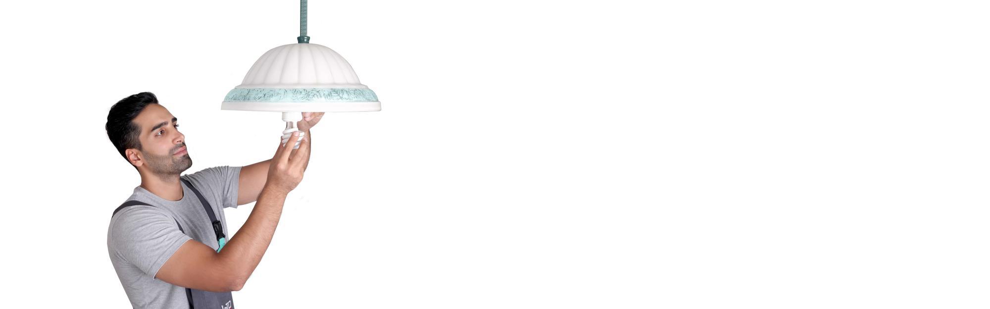 نصب لوستر و چراغ